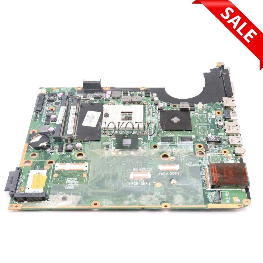 все цены на NOKOTION For Hp pavilion DV7 DV7T DV7-3000 Laptop Motherboard 600862-001 580973-001 DA0UP6MB6F0 PM55 DDR3 G105M онлайн