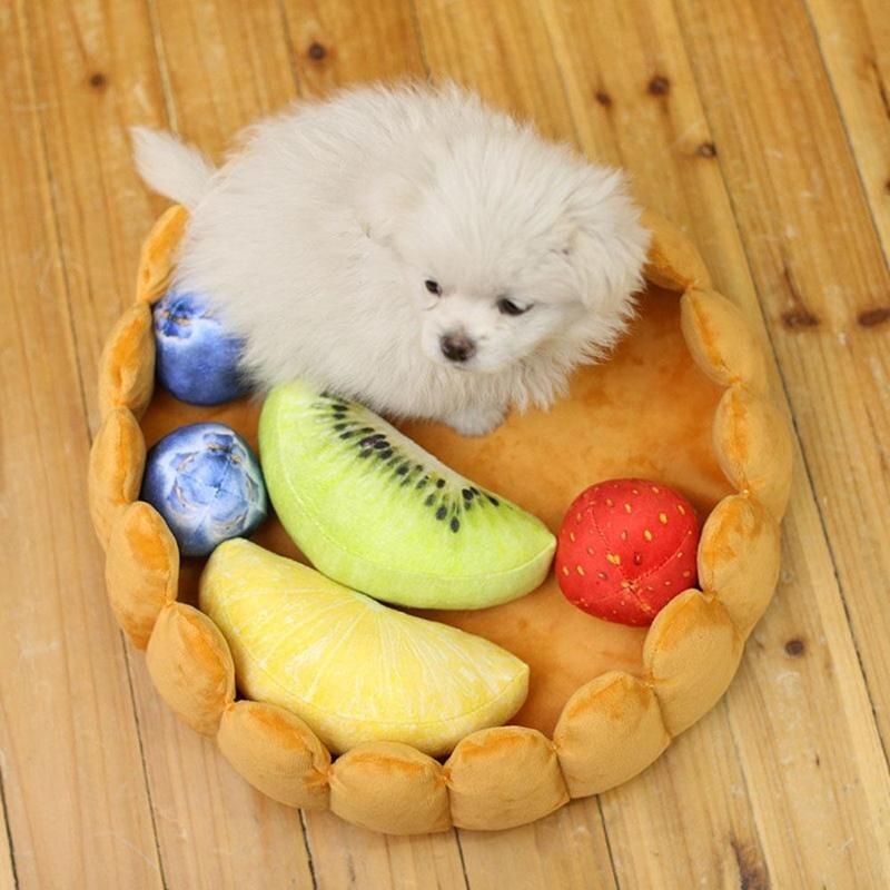 Dropship Obst Haustier Hund Katze Bett Käfig Cute Pet Zubehör Frucht Ei Torte Muster Hundebett Dropshipping