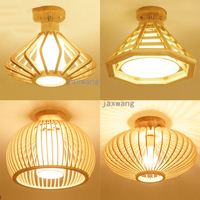 Modern LED Ceiling Lights Wooden round Ceiling Lamps For Living Room Dining Light Wood Bedroom Lamp flush mount ceiling lighting