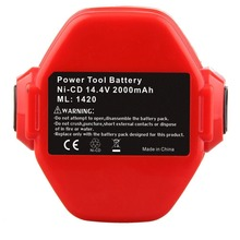 цена на Cncool High Quality 14.4V 2000MAH NI-CD POWER TOOL BATTERY for MAKITA 14.4 VOLT Cordless Drill Replacement Battery