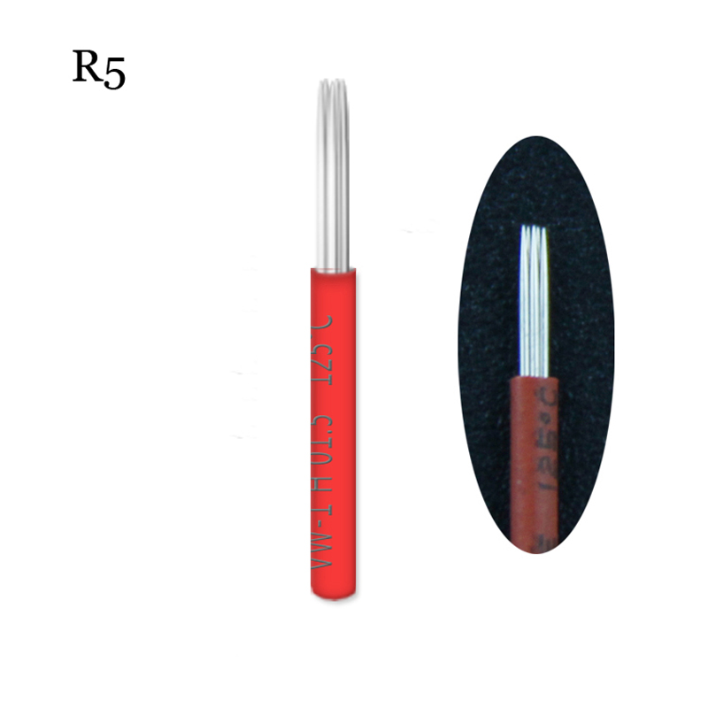 50pcs lamina shading r5 liner microblading tebori needles Liner 5 50 x 1 32