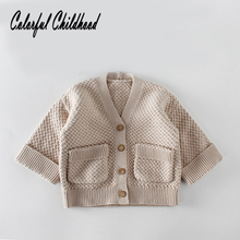 Kid's coat autumn version cotton cloth knitted sweater baby