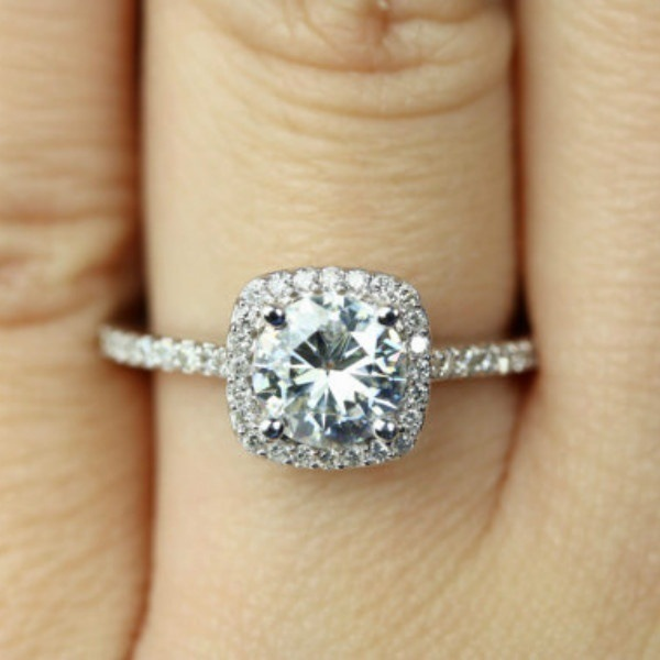 New Trendy Crystal  Engagement Claws Design Hot Sale Rings For Women AAA White Zircon Cubic elegant rings Female Wedding Jewelry 2