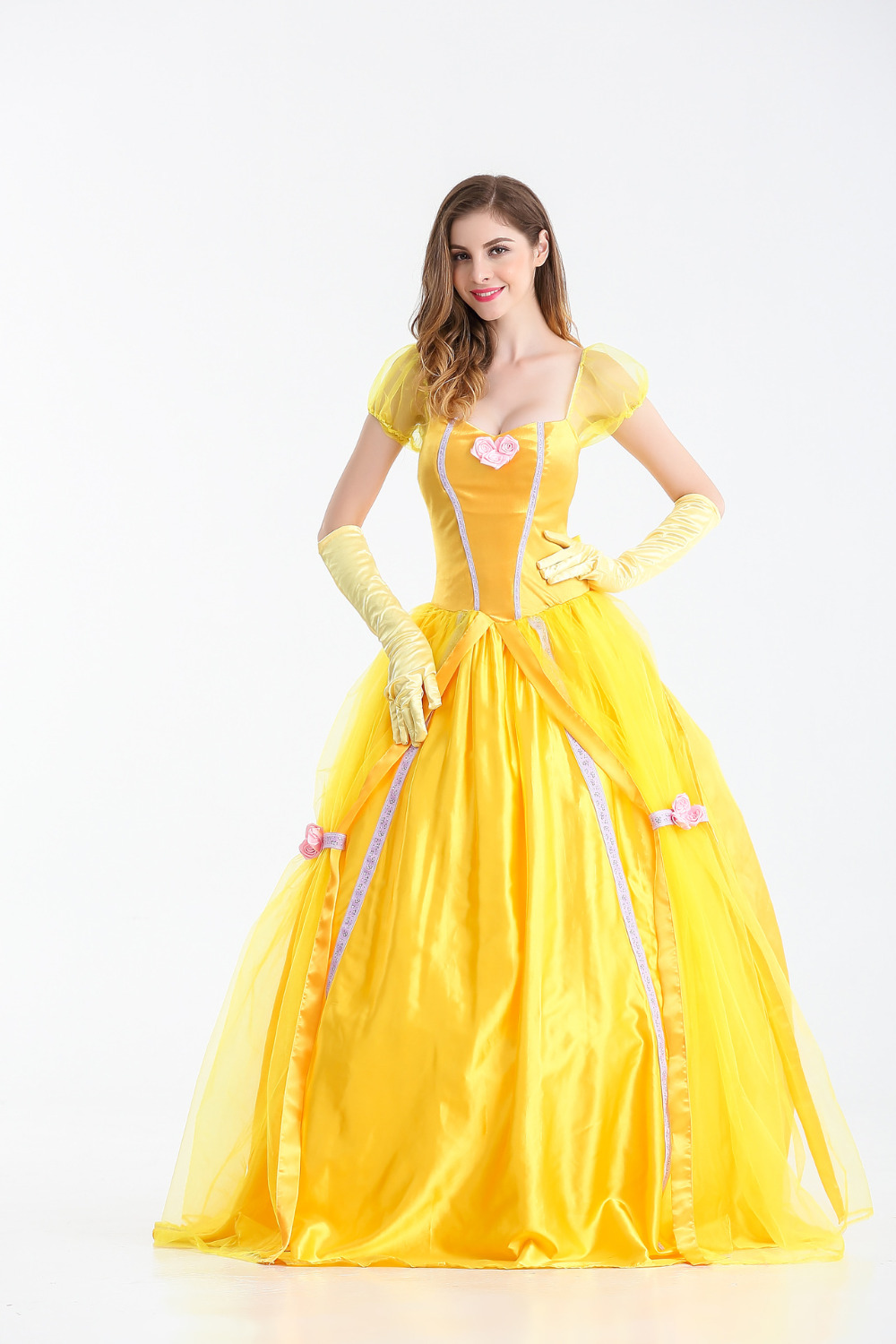 2017 New Beauty and the Beast Princess Belle Dress Adult ...