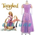 Adult Tangled Princess Rapunzel Women Girls Pink Long Dress Party Cosplay Costume New Arrival Free Shipping