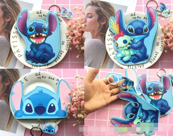 50 pcs mix stitch PU wallet keychain bag pendant key chain for Lovers Gifts