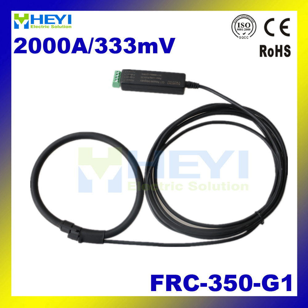 цена на Black-colored Split Core CT Input : 1~2000A Output : 333mV FRC-350-G1 flexible rogowski coil ct rope