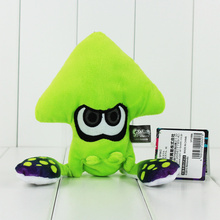 23cm New Arrival Japan F S Splatoon Inkling Squid Plush Doll Stuffed Lime Green Collectible Gift