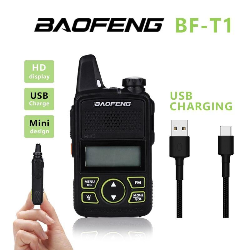 2 шт. Baofeng детская рация bf-t1 uhf Портативный двухстороннее радио Любительское радио, Си-Би радиосвязь USB Зарядное устройство мини bf t1 2 шт