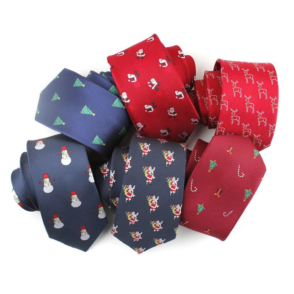 TagerWilen Polyester Silk Ties For Men Slim Skinny Narrow Snowflake Striped Necktie Gravata For Christmas Neckcloth  T-153