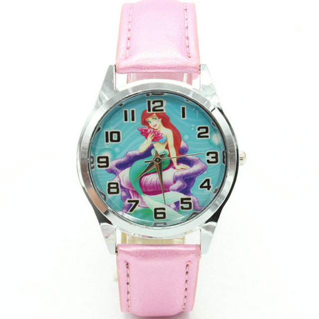Free Shipping Princess Ariel Little Mermaid Gilr Child FASHION Wrist Quartz Watc