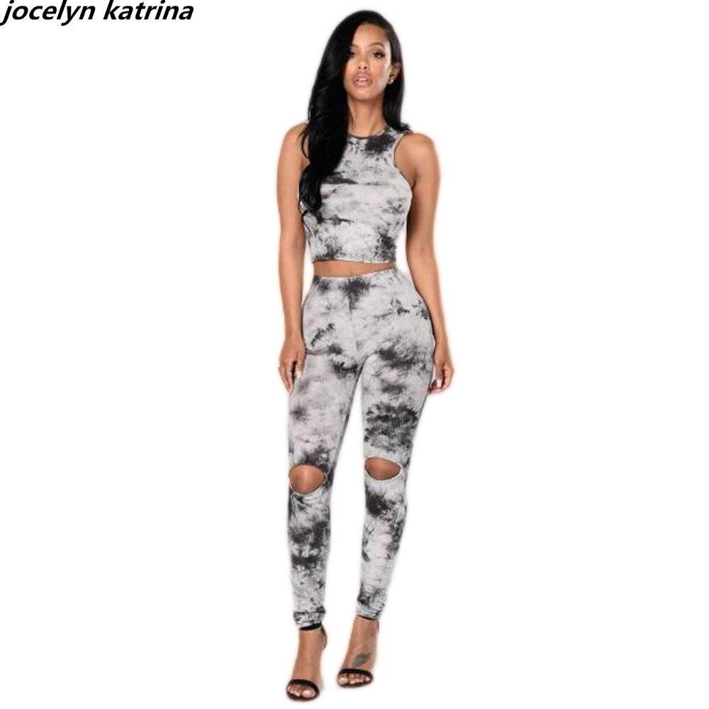 jocelyn katrina brand Sexy design ladies bodycon 2 piece sleeveless bodysuit women jumpsuit overalls rompers jumpsuit