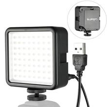 SUPON 64 LED אור מנורה על מצלמה חמה נעל LED תאורה עבור Iphone מצלמת וידאו לחיות זרם צילום תאורה