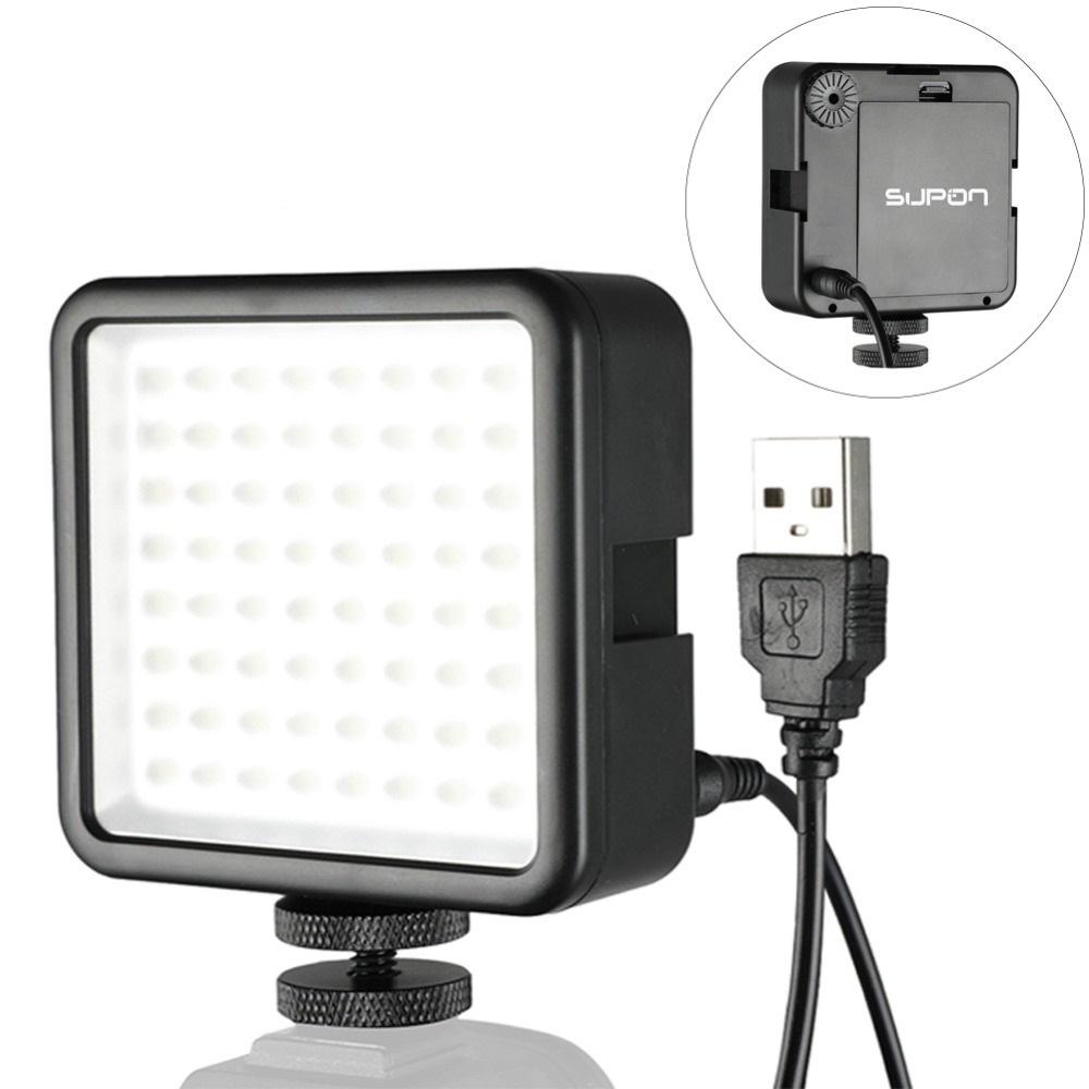 SUPON 64 LED Photo Video Light lamp on Camera Hot Shoe LED Lighting for Iphone Camcorder Live Stream photography lighting image