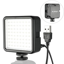 Supon 64 ledビデオライト写真ランプにカメラホットシューled照明iphoneビデオカメラライブストリーム写真撮影の照明