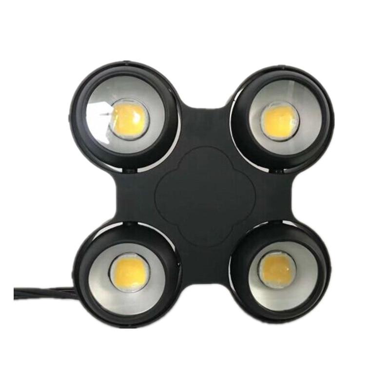 Professional stage ip65 outdoor 4 eyes led cob blinder wash disco light dmx led par dj lighting 4x100W doublecolor strobe effect