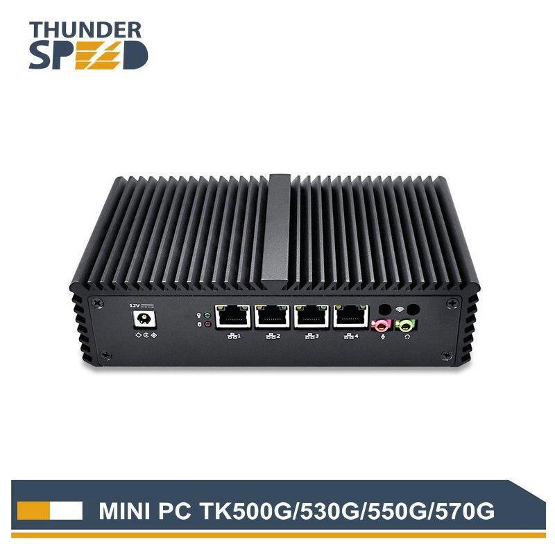 Новое поступление 4 LAN Порты и разъёмы Mini PC i3 i5 i7 1 * COM 2 * Wi Fi антенны Intel 4010U Micro компьютер windows 10 Pfsense WAN маршрутизатор брандмауэра