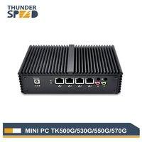 New Arrival 4 Port LAN Mini PC i3 i5 i7 1 * COM 2 * Wifi Antena Intel 4010U Mikro Komputer z Systemem Windows 10 WAN Pfsense Firewall Router