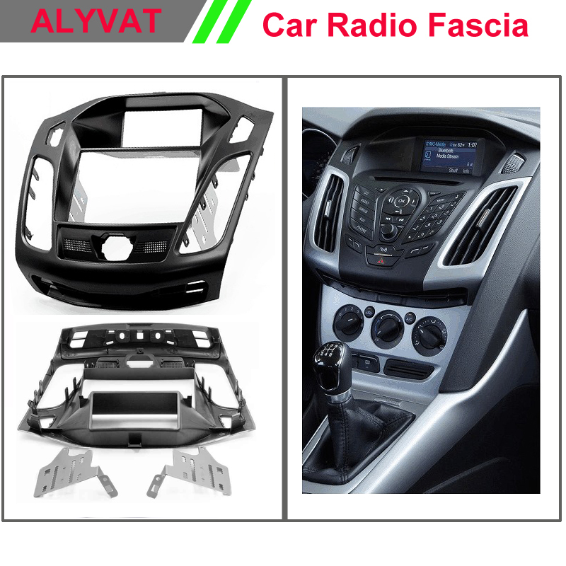 Car DVD stereo facia surround install trim fit 2-DIN dash kit for FORD Focus III, C-Max ;Kuga;Escape (with 3.5 display) блокада 2 dvd