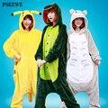 Nova Flanela Anime Pijama Cosplay Dos Desenhos Animados Urso Quente coruja Onesies Pijamas Adulto Unisex Homewear Pijama Animal 22 Estilos