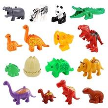 Animals Big Building Blocks bricks Jurassic dinosaur Accessories Educational DIY Toys For Children Compatible with l Duploe Gift