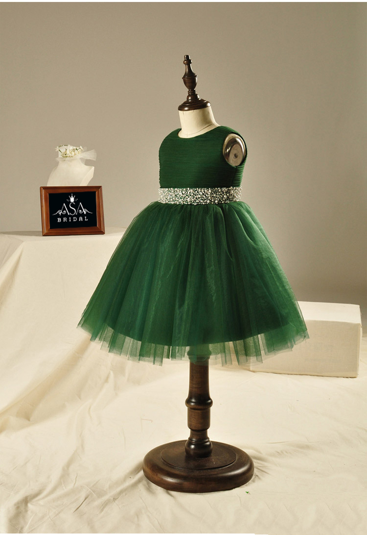 0c4a45c52729c Beautiful Green Flower Girl Dresses With Beaded Sashes Fashionable ...