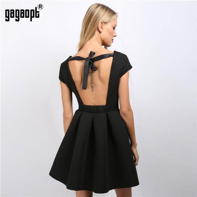 5190c1de3e5 placeholder Gagaopt летние платья сексуальные вечерние платья принцесса  открытая спина бант спинки платья Бандажное платье пляжное платье