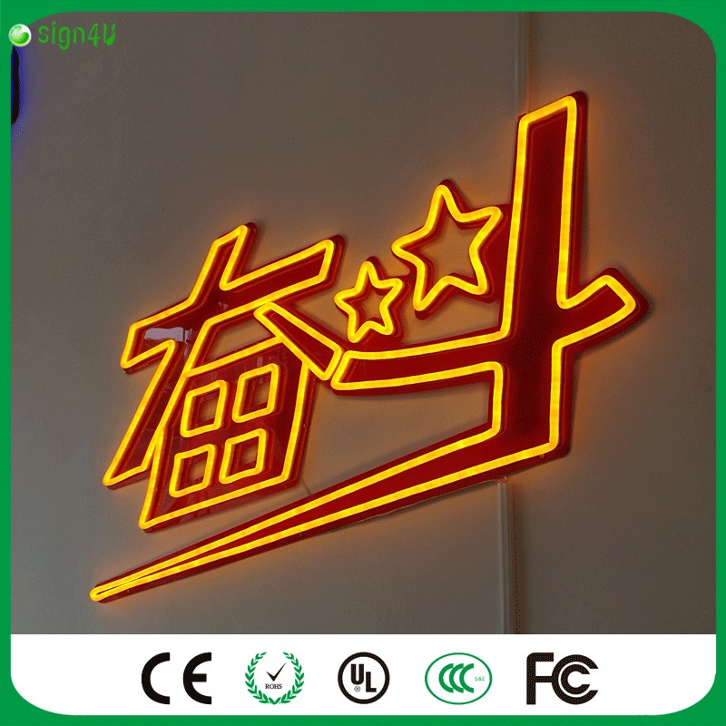 Custom Neon Signs Body Paint For Advertising Use At Outdoor And Waterproof