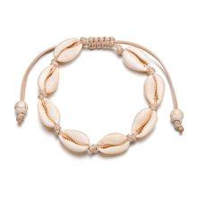 Moda jóias boho oceano concha contas corrente praia pulseira boho borla pulseira jóias por atacado