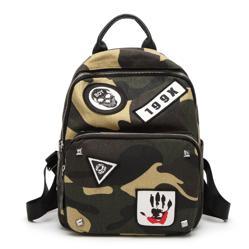 2017 New Fashion Army  Backpacks Canvas Print School Backpack Bags for Teens Girls Camouflage Pattern Casual cool Style Backpack