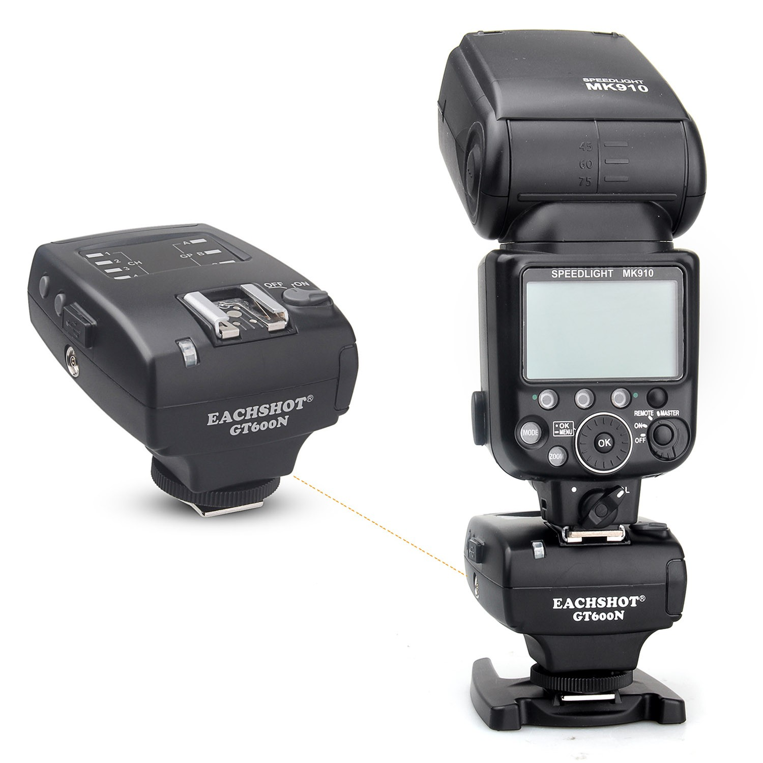 EACHSHOT GT600N GT600 iTTL 2.4Ghz 1/8000s Flash Trigger For Nikon Flash, EACHSHOT SN600N/SN600SN, MEIKE MK-910