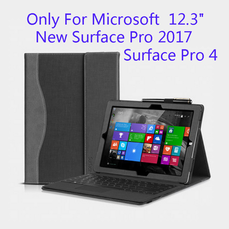 Tablet Case For Microsoft Surface New Pro 5 12.3 Creative Design High Quality Premium PU Leather Cover For Pro4 Stylus Gift sleeve for microsoft surface book 2 13 5 for surface pro 4 5 12 3 fashion design case tablet cover pouch for pro4 pro5 pen gift