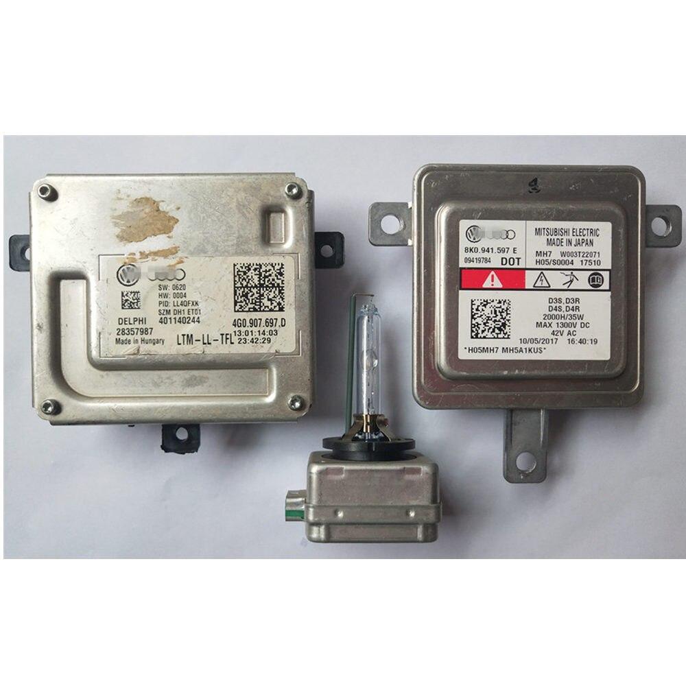 original used For Audi Q3 Q5 A4 A5 A6 Q3 Q5 Xenon Ballast 4G0907697D Control Unit 8K0941597E D3S 66340 66340HBI Bulb Kit