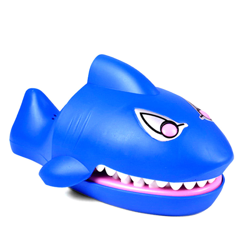 Joking Funny Gag Toys Cartoon Shark Toys Mouth Dentist Bite Finger Novelty Family Game Toy For Kids Children Gift image