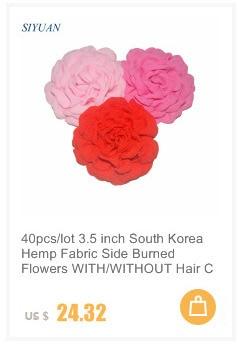 30pcs 5 cm Solide Artificielle Fleur Feutre pour cheveux accessoires U Pick colors