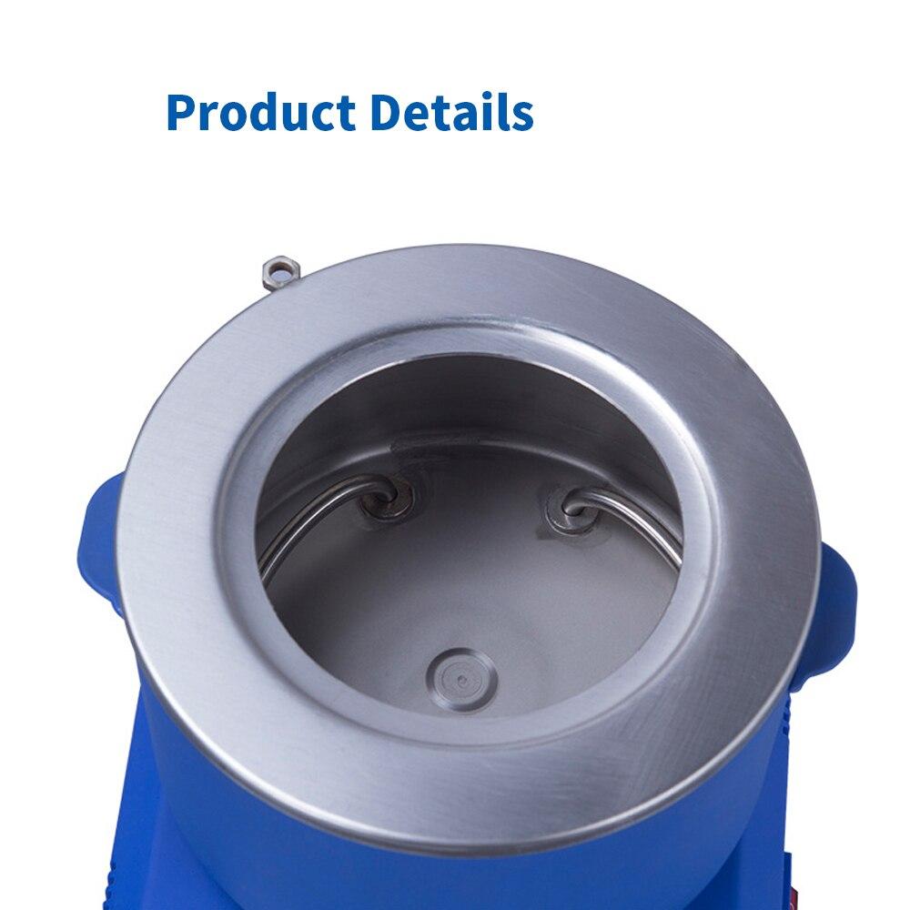 Pantalla de cristal líquido colector de laboratorio tipo agitador magnético temperatura constante calentamiento agua aceite de baño - 6