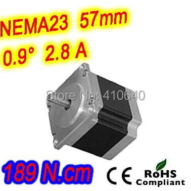 цена на 12 pieces per lot high torque step motor 23HM30-2804S L 76 mm Nema 23 with 0.9 deg 2.8 A 189 N.cm and bipolar 4 lead wires