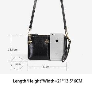 Image 5 - Zency 100% Genuine Leather Retro Women Messenger Purse Day Clutches Fashion Lady Shoulder Crossbody Bags Black Brown Handbag