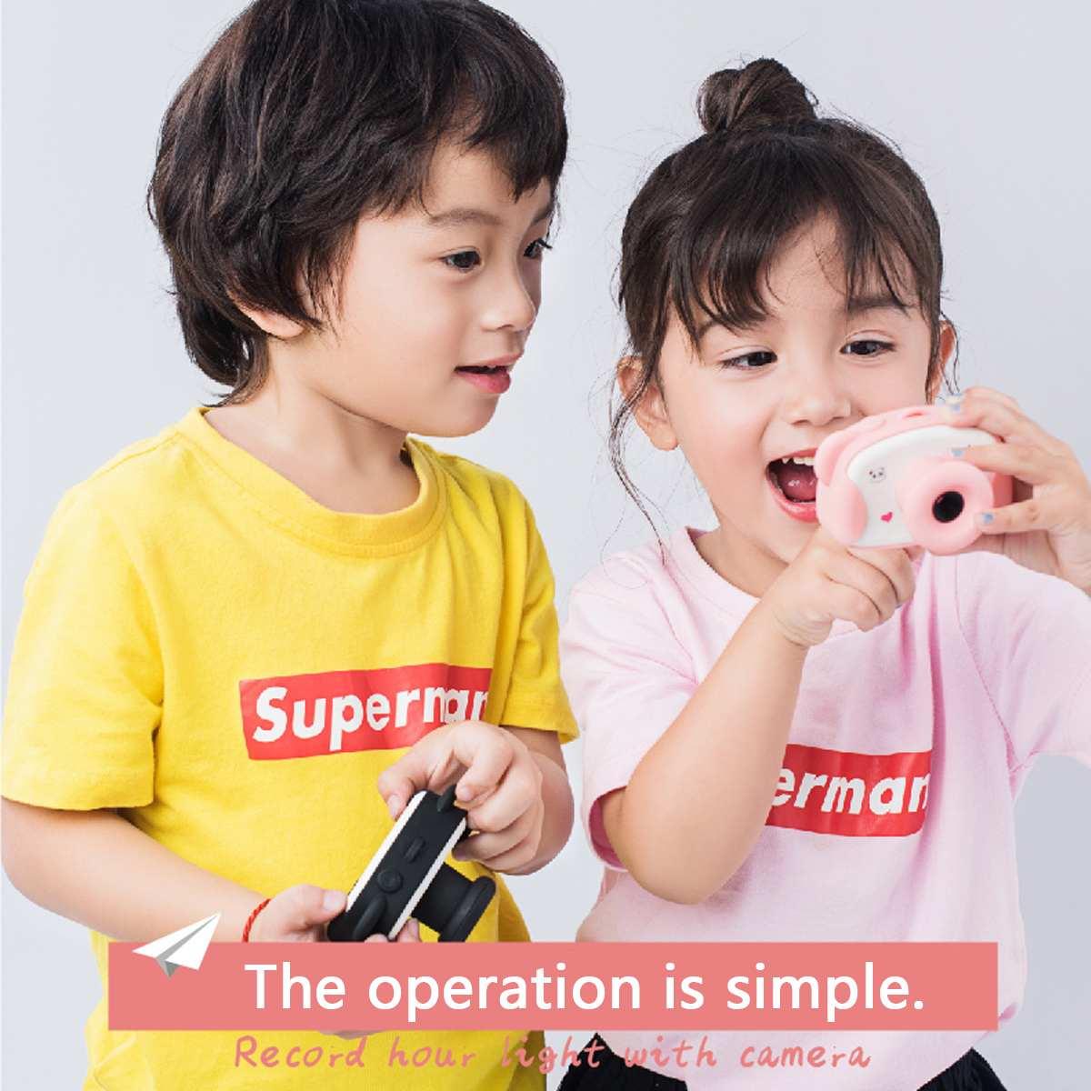 8.0MP 1.5 pouces HD écran enfant caméra jouets Mini belle Panda enfants Anti-secousse appareil photo numérique avec des autocollants de bande dessinée enfants cadeaux