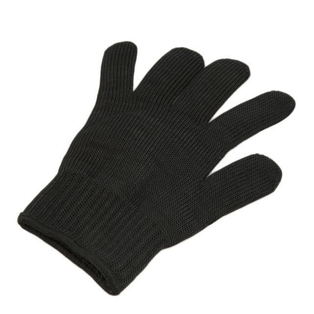 New 1 Pair Safety Anti-skid Anti-Cutting Gloves With Palm Dotted Stainless Steel Wire Cut-Resistant Gloves For hunting