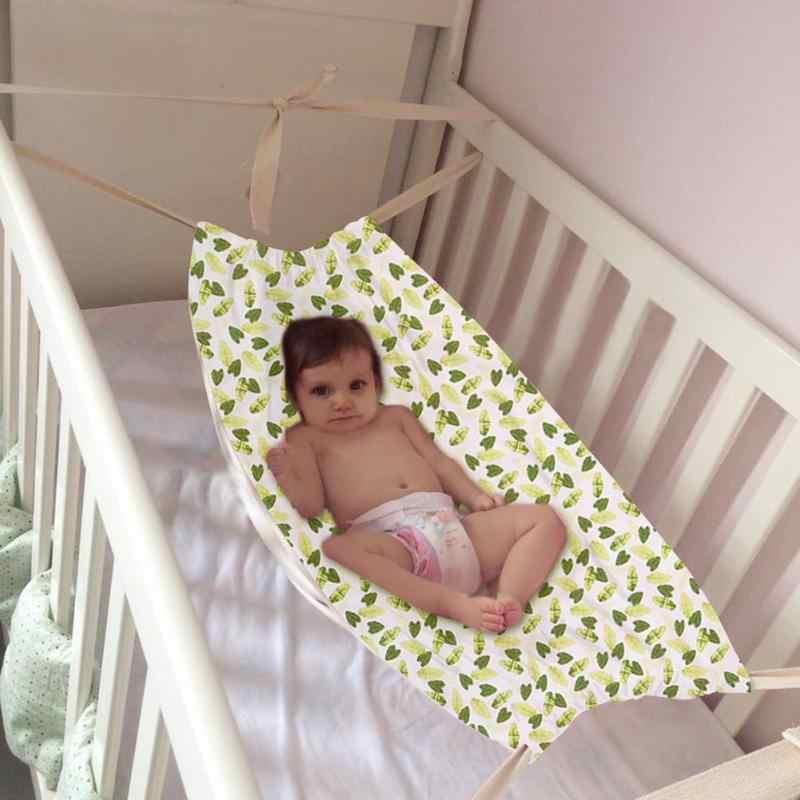 Cama de hamaca para bebé recién nacido de 100x70 cm, cuna plegable portátil desmontable para dormir, decoración de habitación, cuna, bolsa de frijol, Columpio de jardín para uso en exteriores