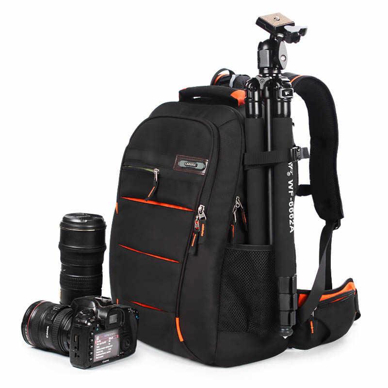 Careell c3050 dslr saco da câmera saco foto câmera mochila universal grande capacidade de viagem mochila para canon/nikon digital cam