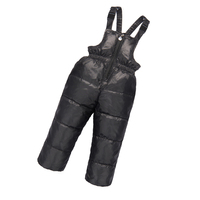 Boys Girls Down Overalls Down Pants Baby Kids Pant Warm Duck Down Overall for Russia Winter Child Trouser Chlidren Clothing