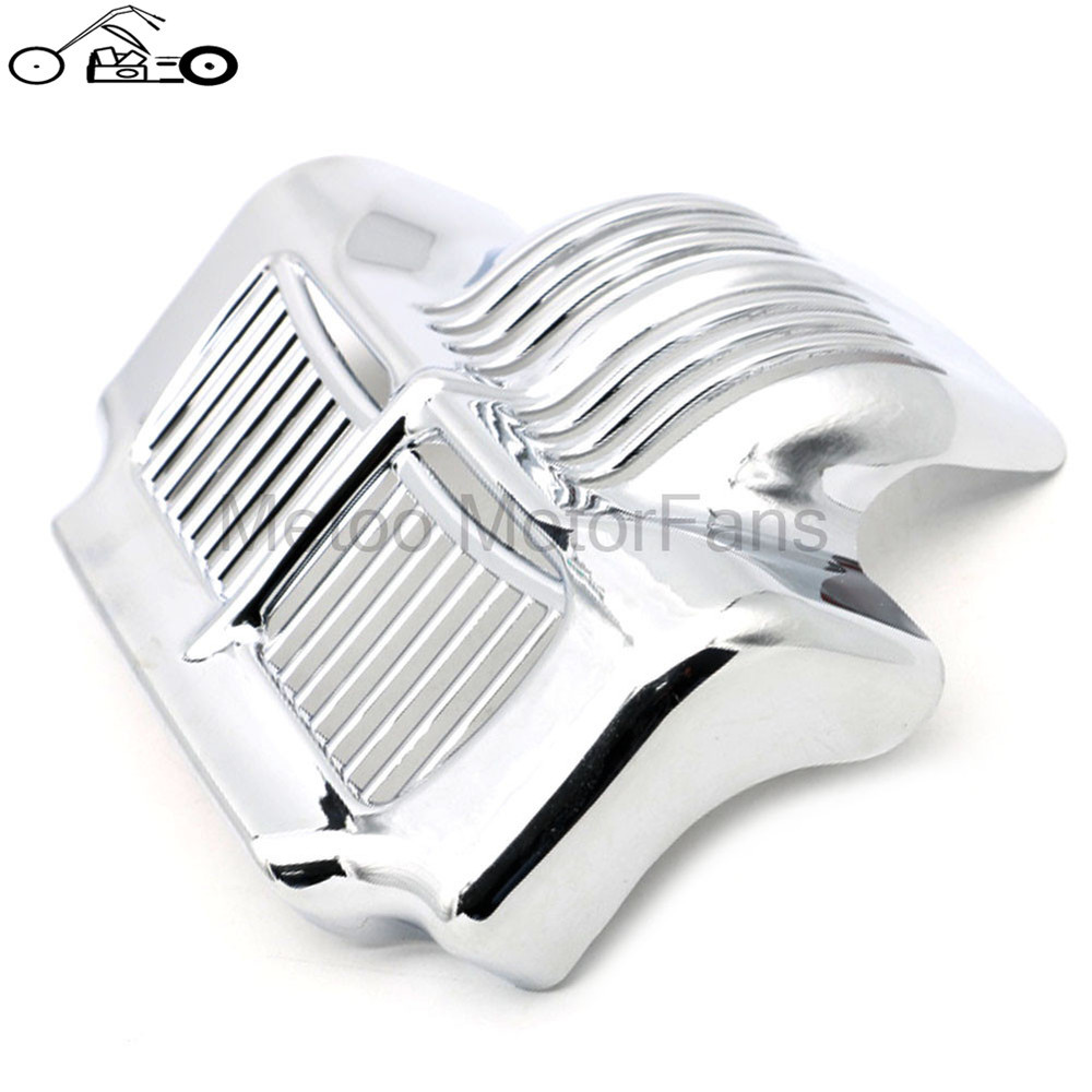 New Chrome Stock Oil Cooler Cover Old Fashion Designed for Harley Touring Road Street Electra Glides Trikes 2011 2012 2013-2015