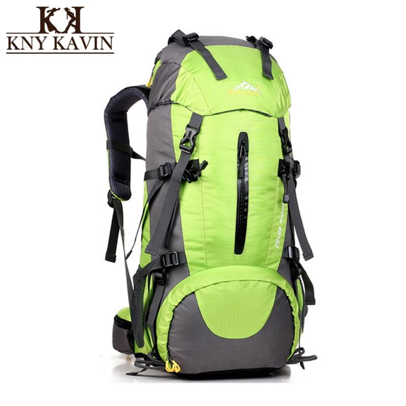 KNY KAVIN Casual Backpack Men Women Waterproof Backpacks Large Capacity 50 Liters Rain C ...