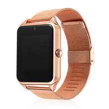 GT08 Plus Metal Strap Clock Smart Watch Z60 Bluetooth Wrist Smartwatch Support Phone Call Sim TF Card Android IOS Watch PK S8 Q9(China)