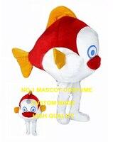 Little red clown fish maskotki kostium dla dorosłych rozmiar jakości cartoon ryb morskich tematyczne anime cosplay kostiumy karnawałowe fancy dress 2609