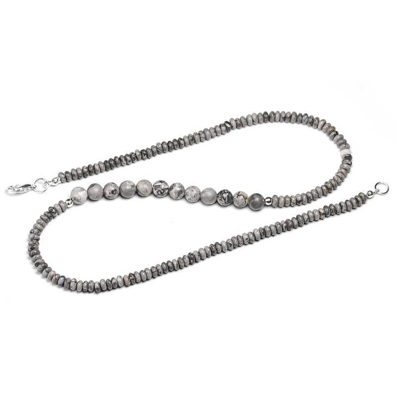 Indian onyx natura kamień naszyjnik dla kobiet 6/8/10/12/14mm kwarcowy pół- szlachetny kamień zroszony naszyjnik, party prezent