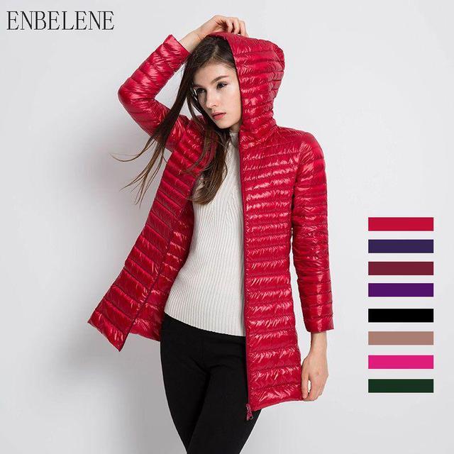 5cf79698b US $23.01 40% OFF|Autumn Winter Long Duck Down Coat Women Ultra Light Down  Jackets for Female Hooded Oversize Jacket Red Black Overcoat BJ055-in Down  ...