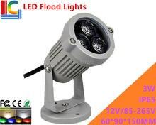 цены 3W LED Floodlights Outdoor IP65 High Power Spotlight 12V 110V 220V advertising lights shine tree lights lawn lamp 4PCs/Lot